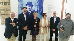 En la inauguración de la exposición 'Manuel de Falla en París', en la Biblioteca de Andalucía, organizada por el @FallaAr y Alianza Francesa