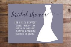 Looking to do something special for the Bride-to-Be? Why not wow her with these customizable bridal shower invitations with HER dress silhouette on it! Available in 5x7,  printed+shipped or as a DIY printable. #bridalshower #bridetobe #bridalshowerinspiration #bridalshowerinvitation #showerinvitation #wedding #weddingshower #weddingshowerinvitation #DIYbridalshower #DIYinvitations #etsy #etsyinvitation