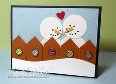 This is so cute, considering Valentine's Day is still in winter, and snowmen are winter not just Christmas. Great!