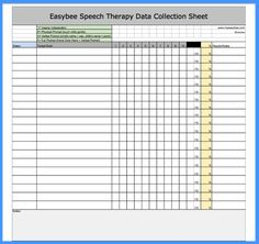 Free Data Sheets, etc Speech Language Therapy, Speech Language Pathology, Speech And Language, Google Doc Templates, Data Collection Sheets, Speech Room, Speech Therapy Activities, Data Sheets, Data Tracking