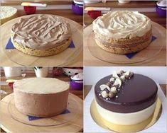 Sweet Desserts, Cream Cake, How To Make Cake, Food Hacks, Red Velvet, Cheesecake, Good Food, Food And Drink, Birthday Cake
