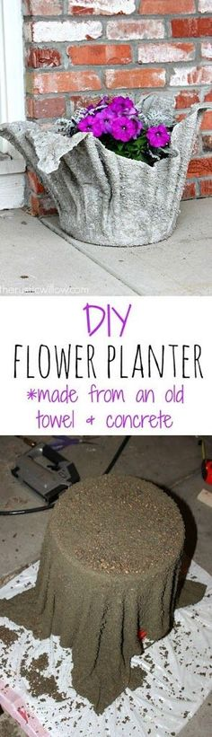 DIY Concrete Planter CONTINUE:…