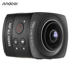 Andoer Panorama VR Video Camera Full HD Sports Action IP Camera Fisheye Wide-angle Lens Dome Wifi Support Gyroscope Virtual Reality System Split-screen Up-down Flip Display Sales Online black - Tomtop 3d Vr Camera, Sports Camera, Video Camera, Digital Camera, Camera With Flip Screen, Virtual Reality Systems, Iphone 7, Waterproof Camera, Wide Angle Lens