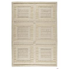 """MA Trading Indian Hand-knotted Bergamo White Rug (5'6 x 7'10) (Hand Knotted Bergamo White (5'6""""x7'10"""")) (Cotton, Geometric)"""