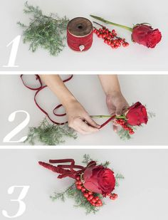 DIY Decorations for the christmas table