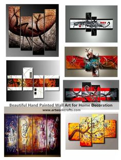 Extra large hand painted art paintings for home decoration. Hand Painted Canvas Art, Modern Wall Art Paintings, Abstract Paintings for Living Room Multi Canvas Painting, Multiple Canvas Paintings, Canvas Paintings For Sale, Buy Paintings Online, Abstract Canvas Wall Art, Painted Canvas, Acrylic Canvas, Hand Painting Art, Large Painting