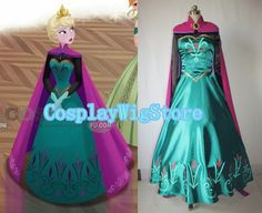 Elsa Coronation Dress Frozen Costume Elsa Princess Dress Custom-made For Kids And Adult Cosplay Costume