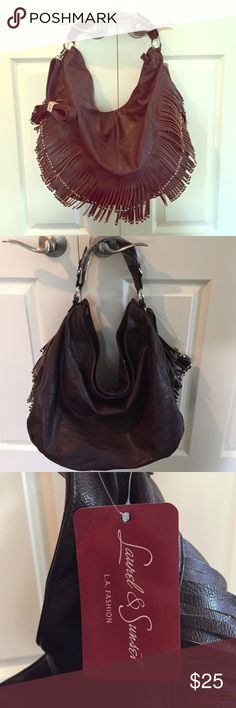 NWT Fringe Bag Pristine and never worn. Laurel & Sunset fringe tote. Comes with a long strap you can clip on if desired. Tons of inner pockets! Laurel & Sunset Bags Hobos