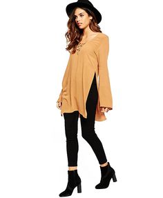 Long Sleeve T-shirt with Side Splits