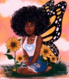 Black Love Art, Pretty Black Girls, Black Girl Art, Black Girls Rock, Black Is Beautiful, Black Girl Magic, Black Girl Cartoon, Cartoon Girl Drawing, Cartoon Art
