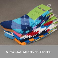 Free Shipping combed cotton brand men scoks,colorful dress socks (5 pair / lot )-in Socks from Apparel & Accessories on Aliexpress.com