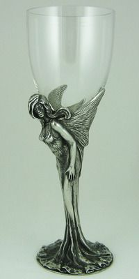 Premium Green Fairy Absinthe Glass Crystal Pewter