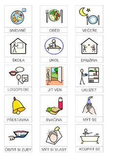 Tak TROCHU ... jiný svět: Piktogramy ke školnímu režimu Preschool Themes, Adhd, Children, Kids, Psychology, Homeschool, Language, Teaching, Activities