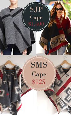 SJP Knock-Off Wool Cape Tutorial + Pendleton Fabric Giveaway!