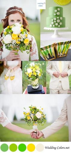 Green & Yellow Spring Wedding Palette