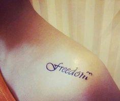 Small tattoo ○ Freedom