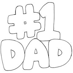 1 Dad Coloring Pages Pinterest Dads