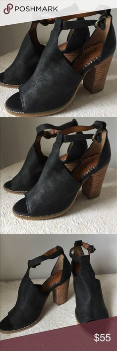 ad2f74f449b Lucky brand leather peep toe ankle T strap Gorgeous pair of authentic  leather LUCKY BRAND shoes in fantastic condition. Worn a few times they ve  been ...