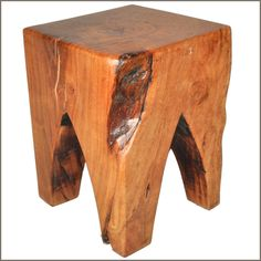 This Appalachian tree stump can be used as an accent table, stool, or art object.