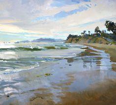 marcia burtt Silvery Light (Butterfly Beach) acrylic 36×40 inches
