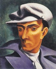 José de Almada Negreiros (1893-1970) was a Portuguese painter and writer.  Besides literature and painting, Almada composed ballet choreographies, and worked on tapestry, engraving, murals, caricature, mosaic, azulejo and stained glass.  Having drawn inspiration from Cubism and Futurist movements, Almada-Negreiros is considered one of the pivotal figures of the Modernist movement in Portugal.