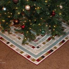 Patchwork Square Christmas Tree Skirt