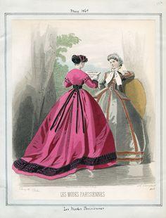 Les Modes Parisiennes- May 1865.  Casey Fashion Plates Detail | Los Angeles Public Library