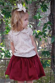La Petite Couture  Very Berry Skirt