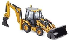 Norscot Cat 432E Side Shift Backhoe Loader 1:50 scale by Norscot. $79.95. From the Manufacturer                Die-cast metal scale model replica. Three interchangeable work tools for boom - three interchangeable work tools for it loader. Boom with extendable stick raises and lowers with 180 degree swing. Left and right stabilizers with pads raise and lower.                                    Product Description                1:50 scale replica with moveable p...