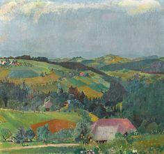 blastedheath:  Cuno Amiet (Swiss, 1868-1961), Landschaft, 1929. Oil on canvas, 91 x 98cm.