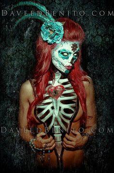 Sugar skull and body