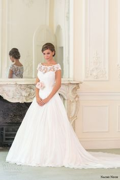 naomi neoh bridal 2014 lily wedding dress cap sleeve front button back -- Naomi Neoh 2014 Wedding Dresses Wedding Dresses 2014, Bridal Dresses, Wedding Gowns, Lily Wedding, Garden Wedding, Ball Dresses, Ball Gowns, Bridal Collection, Old Hollywood