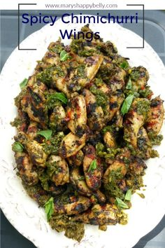 [Recipe] Spicy Chimichurri wings - Mary's Happy Belly