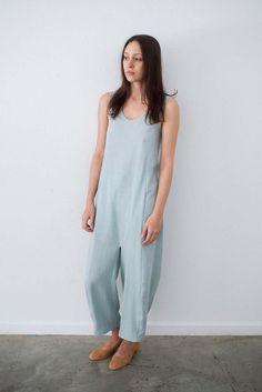 Caron Callahan Morgan Jumpsuit in Jade   Oroboro Store  lyocell fabric - drape