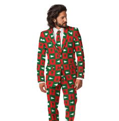 Ugly Christmas Suits Are The New Ugly Christmas Sweaters. Reminds me of the Norwegian curling team.