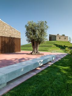 Italian residence combines traditional stonework with contemporary details