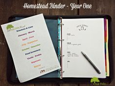 Our Homestead Binder - Right From The Beginning - check out our first years homestead organiser, with printables form Reformation Acres | 23oaktreeroad.com