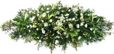 Rustic Funeral Coffin Spray
