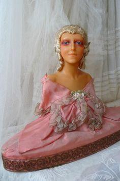 Antique French Boudoir Doll Wax Doll Candy Box Marie Antoinette Silk C 1900   eBay