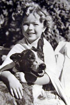 Famous people (Shirley Temple) + Dogs