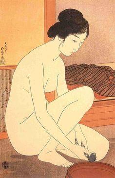 """Hashiguchi Goyô Woodcut """"Yuami"""" (1915)"""