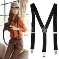 Práctico Correa Tirantes Pantalones Y-Espalda Ajustable Clip para Hombre  Mujer 7b4e4322e9b6