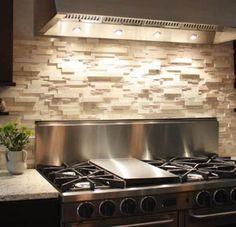Dry-stacked stone backsplash idea. | Home Ideas | Pinterest | Stone  backsplash, Stove and Fireplaces