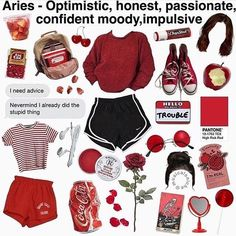 Aesthetic Fashion, Look Fashion, Aesthetic Clothes, Fashion Outfits, Aries Aesthetic, Aesthetic Memes, Vintage Outfits For Teens, Aries Outfits, Zodiac Shirts
