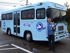 Mavi Kuş Otobüs Bağış İyilik Devam verir