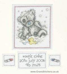Bath Time Birth Sampler - Tatty Teddy Cross Stitch Kit
