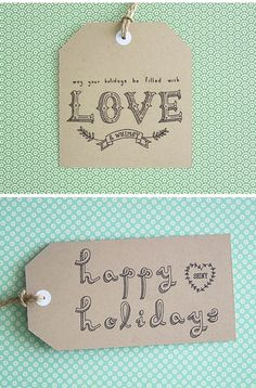14 of the prettiest free printable gift tags and paper. Love this hand-lettered one.
