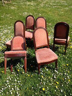 Série de 6 chaises salle à manger - acajou massif Cuba 1925, Jean-Jacques Petiton, Proantic Objet D'art, Cuba, Display, Home Decor, Stools, Chairs, Railroad Ties, Antique Shops, Art Deco