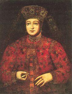 Портрет русской царицы Марьи Матвеевны  (XVII-XVIII)