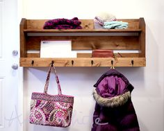 Build a Small Pallet Inspired Coat Rack with Shelves